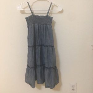 Gap KIDS denim DRESS spaghetti straps SMALL slim